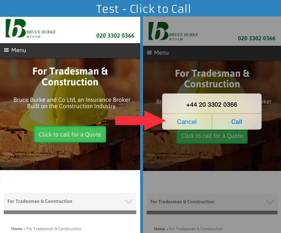 Test Click to Call