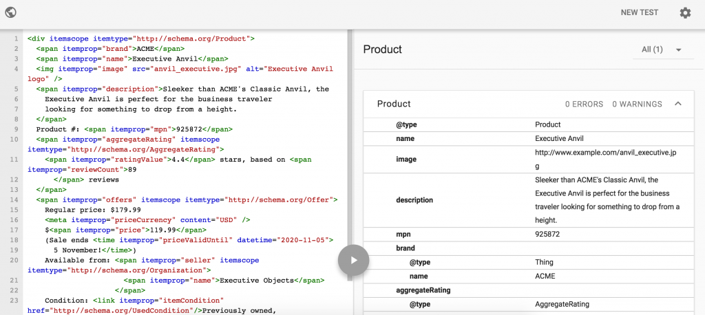 Microdata markup for product image Google