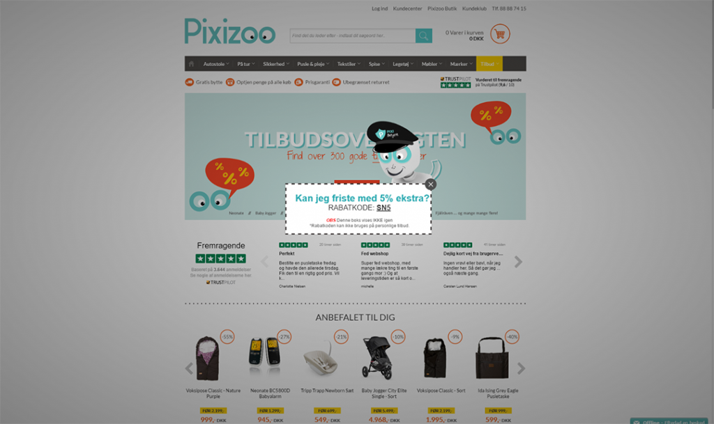 Pixizoo exit intent technology case study