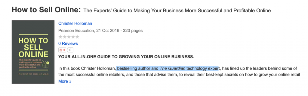 how to sell online christer holloman