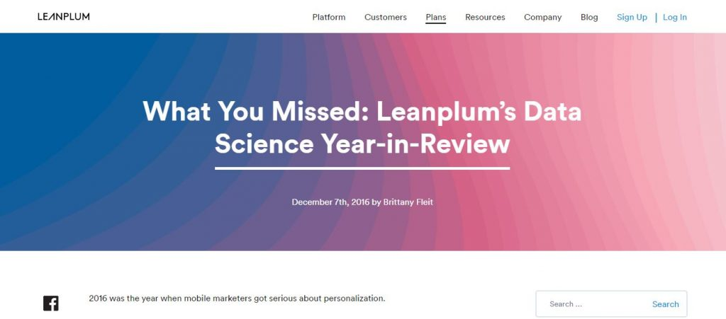 leanplum data science