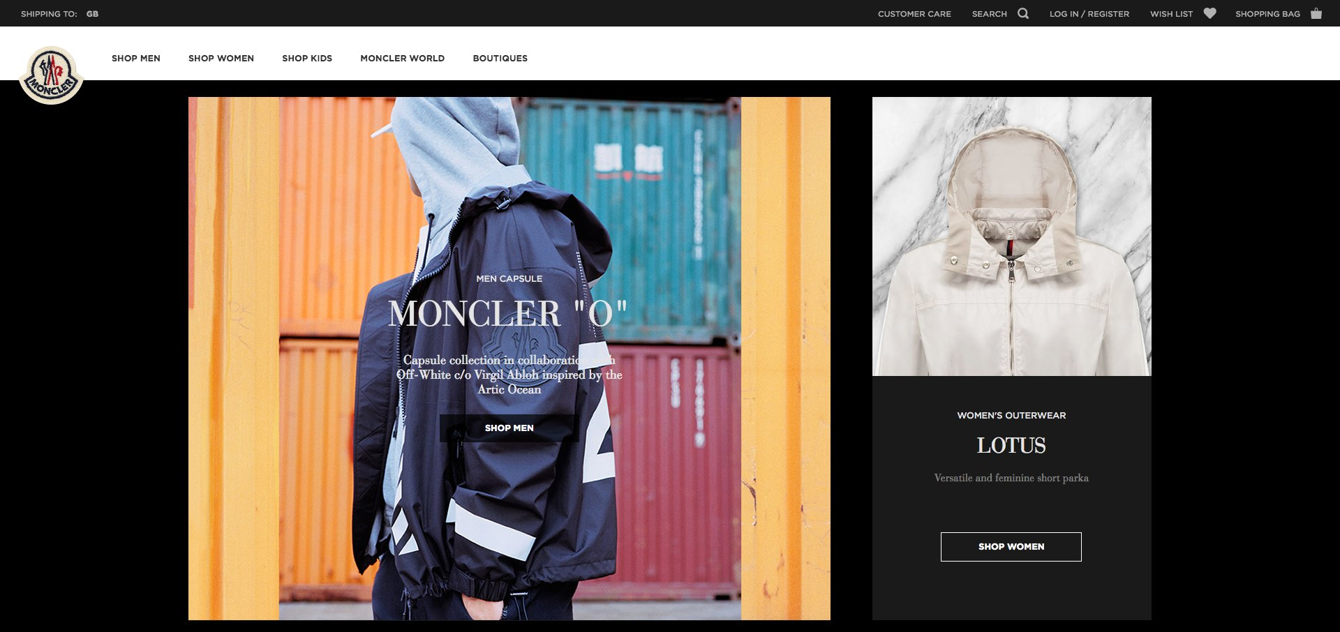 Luxury website inspiration: Moncler