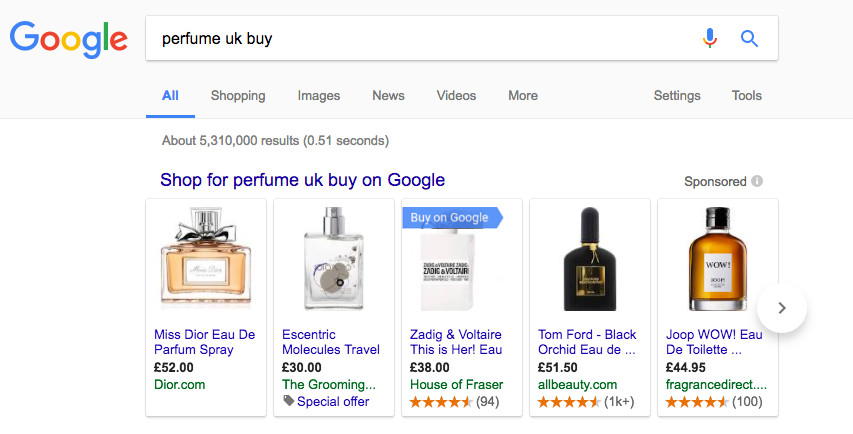google buy on google button example