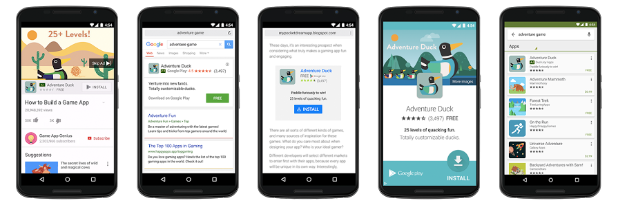 Universal App Campaigns Google Adwords