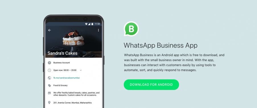 WhatsApp Business Application