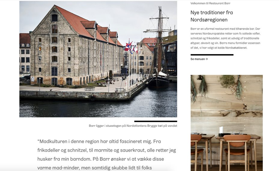 Barr Denmark About Website Page